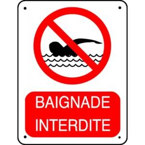 Interdiction de baignade