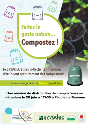 Distribution de composteurs le 28 juin à 17h30