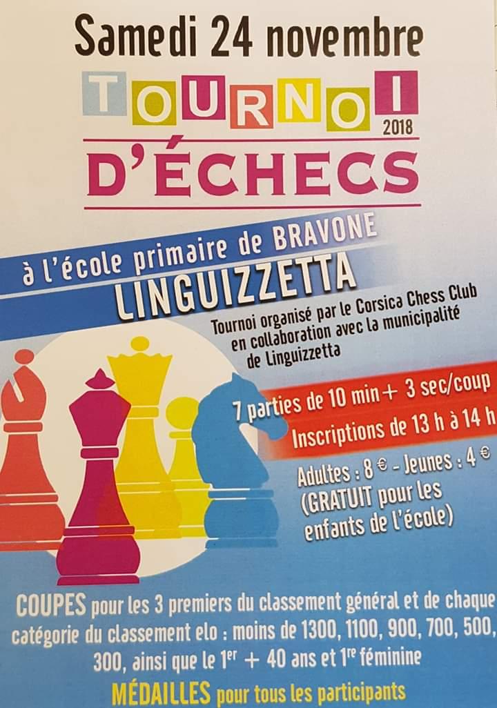 Tournoi d'échecs le 24 Novembre 2018