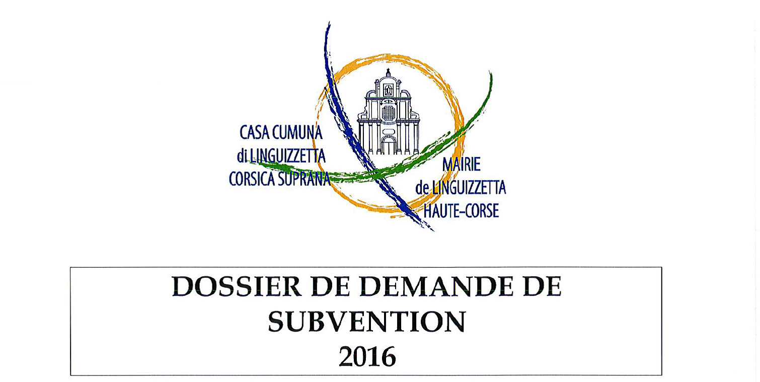 Demande de subvention 2016