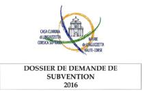 Demande de subvention 2016
